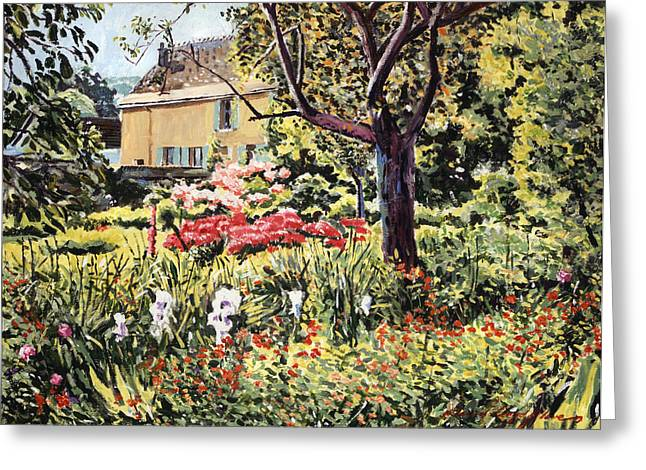 France Greeting Cards - Golden French Country Garden Greeting Card by David Lloyd Glover