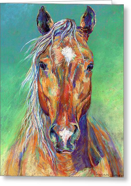 Michelle Pastels Greeting Cards - Golden Gait Greeting Card by Michelle Bostock