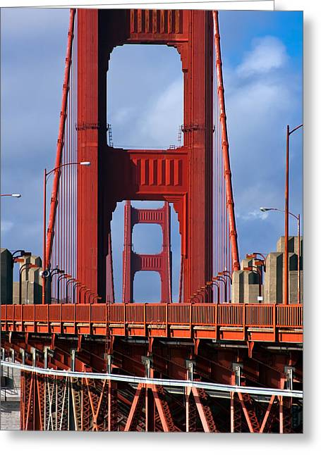 Bay Bridge Photographs Greeting Cards - Golden Gate Bridge Greeting Card by Adam Romanowicz