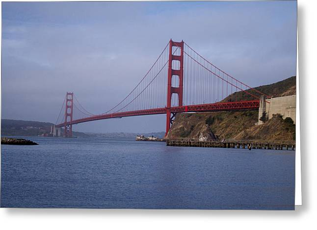 San Francisco Bay Pyrography Greeting Cards - Golden Gate at Sunrise from Fort Baker Greeting Card by DUG Harpster