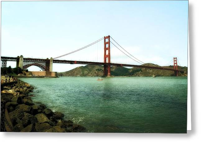 Famous Bridge Greeting Cards - Golden Gate Bridge 2.0 Greeting Card by Michelle Calkins