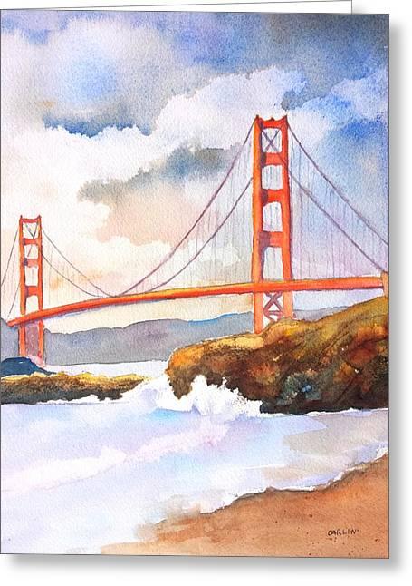 Carlin Greeting Cards - Golden Gate Bridge 4 Greeting Card by Carlin Blahnik