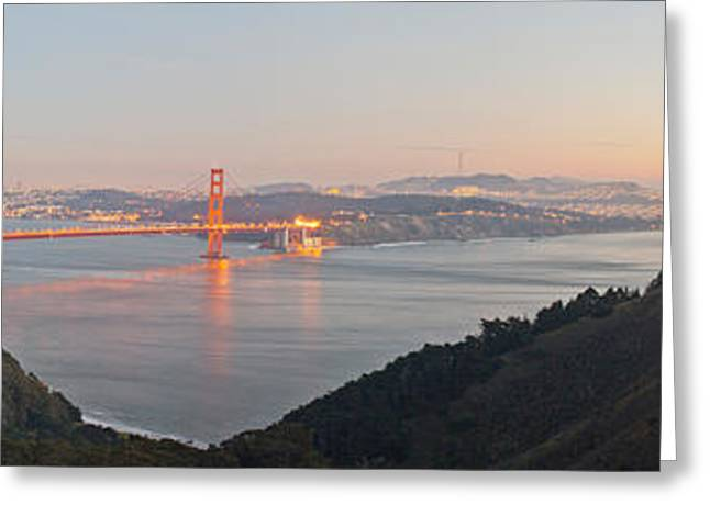 San Francisco Bay Greeting Cards - Golden Gate Bridge Across The Bay Greeting Card by Panoramic Images