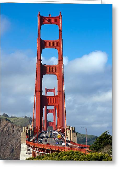 Bay Bridge Greeting Cards - Golden Gate Bridge Greeting Card by Adam Romanowicz