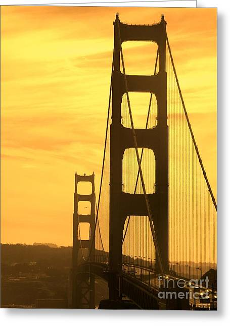 Sight Seeing San Francisco Greeting Cards - Golden Gate Bridge  Greeting Card by Clare Bevan