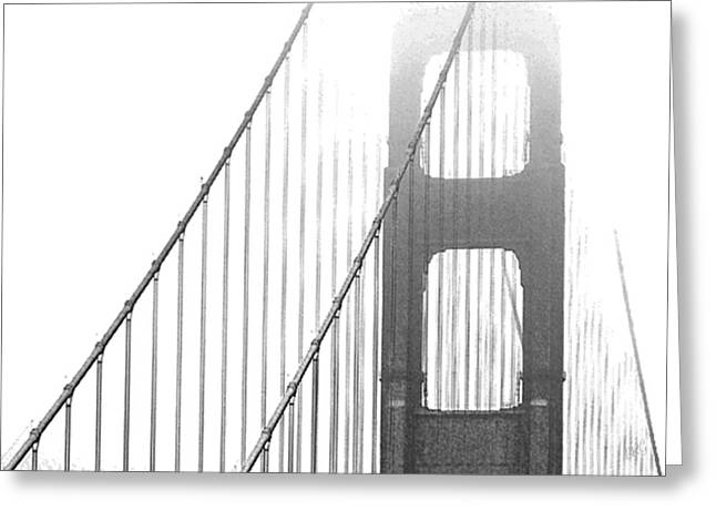 Ben Gertsberg Greeting Cards - Golden Gate Bridge Greeting Card by Ben and Raisa Gertsberg