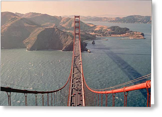 Golden Gate Bridge California Usa Greeting Card by Panoramic Images