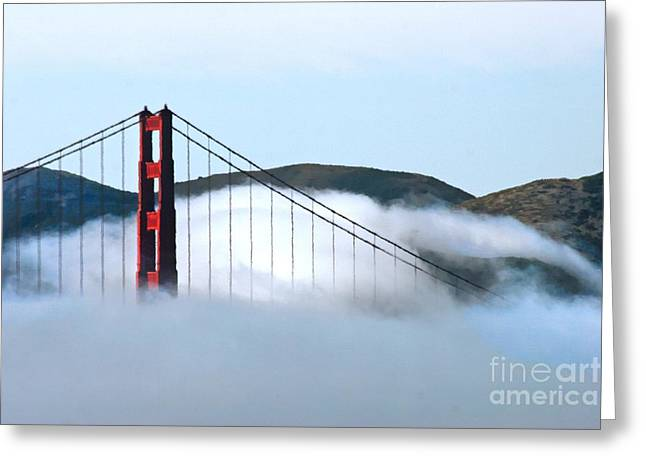 Golden Gate Bridge Clouds Greeting Card by Tap On Photo