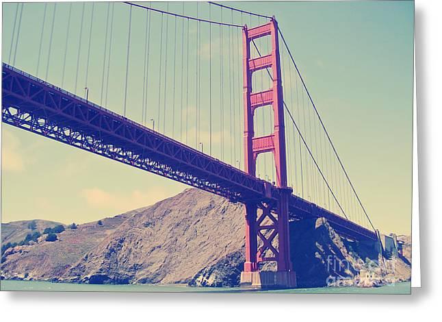 Famous Bridge Greeting Cards - Golden Gate Bridge Greeting Card by Dan Radi