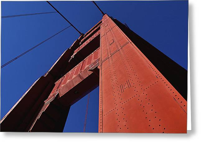 Golden Greeting Cards - Golden Gate Bridge dramatic view Greeting Card by Garry Gay