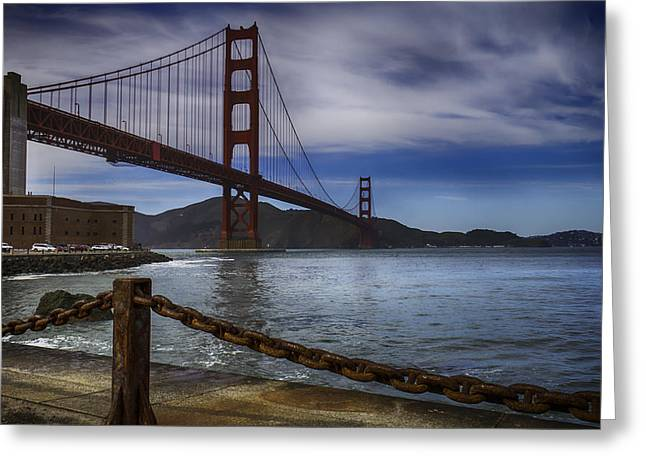 Golden Gate Greeting Cards - Golden Gate bridge Fort Point Greeting Card by Garry Gay