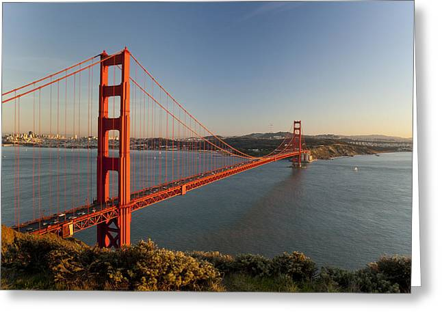 Red Sea Greeting Cards - Golden Gate Bridge Greeting Card by Francesco Emanuele Carucci