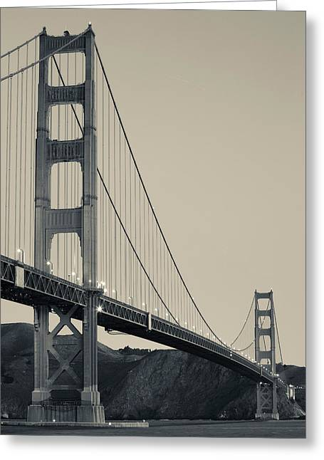 California Ocean Photography Greeting Cards - Golden Gate Bridge From Fort Point Greeting Card by Panoramic Images
