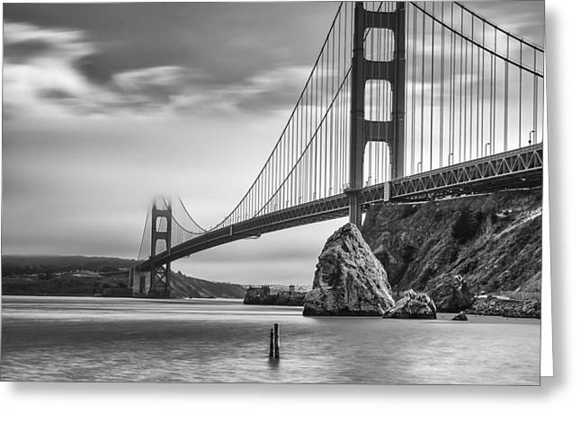 Recently Sold -  - Bay Bridge Greeting Cards - Golden Gate Bridge from Horseshoe Bay Greeting Card by Dawn  Black