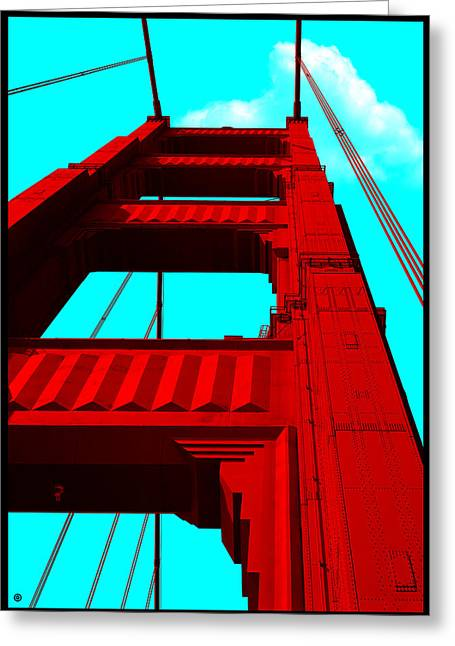 Blue Photography Greeting Cards - Golden Gate Bridge Greeting Card by Gary Grayson