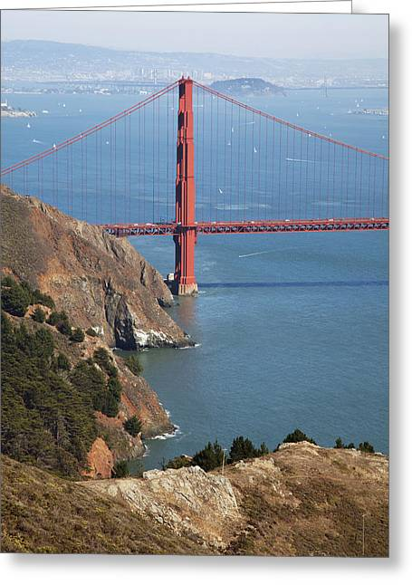 Old Roadway Greeting Cards - Golden Gate Bridge II Greeting Card by Jenna Szerlag
