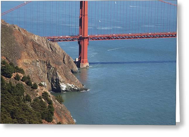 Golden Gate Bridge II Greeting Card by Jenna Szerlag