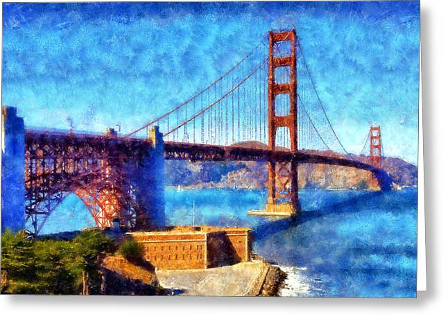 Famouse Greeting Cards - Golden Gate Bridge Greeting Card by Kaylee Mason