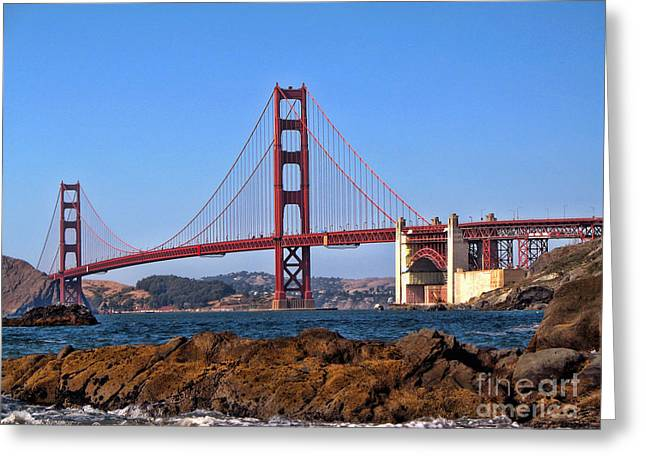 San Francisco Bay Greeting Cards - Golden Gate Bridge Greeting Card by Lidia Anderson