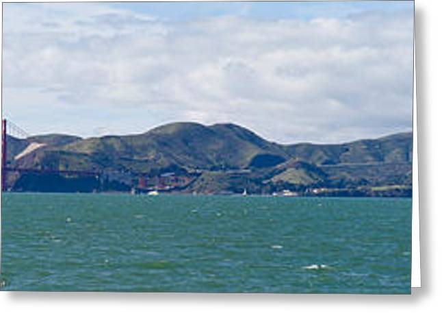 San Francisco Bay Greeting Cards - Golden Gate Bridge, Marin Headlands Greeting Card by Panoramic Images