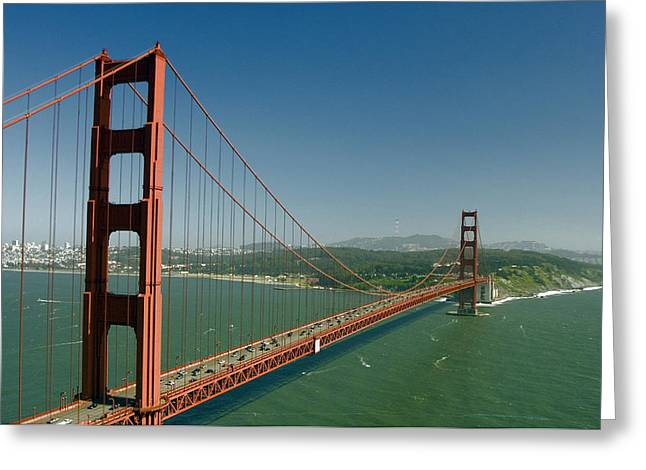 San Fransico Greeting Cards - Golden Gate Bridge Greeting Card by Mark Newman