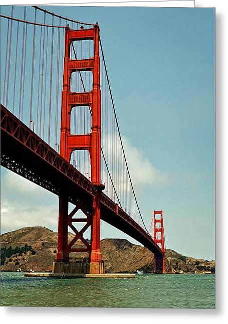 Golden Gate Bridge Greeting Card by Michelle Calkins