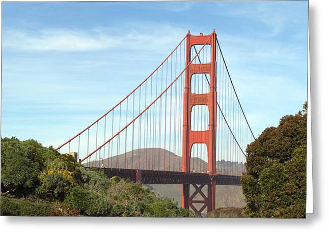Famous Bridge Greeting Cards - Golden Gate Bridge No.6 Greeting Card by Christopher Winkler