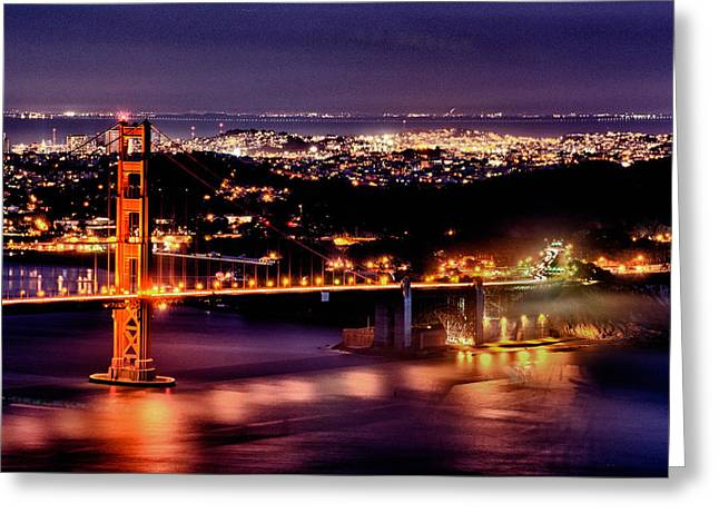 Sausalito Greeting Cards - Golden Gate Bridge Greeting Card by Robert Rus