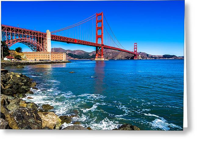 Famous Bridge Greeting Cards - Golden Gate Bridge San Francisco Bay Greeting Card by Scott McGuire