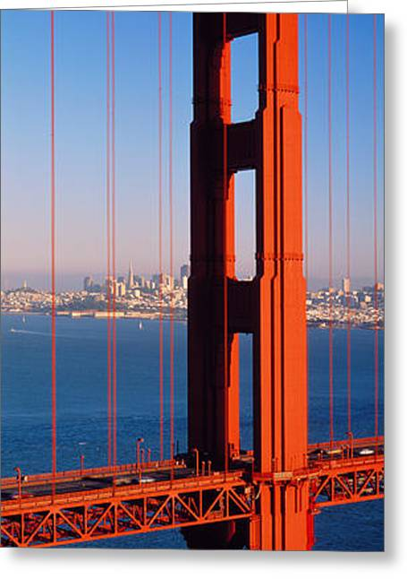 San Francisco Images Greeting Cards - Golden Gate Bridge San Francisco Ca Greeting Card by Panoramic Images