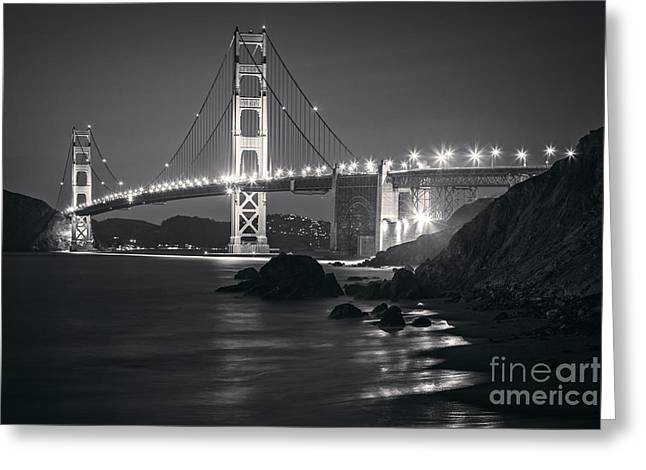 Golden Gate Greeting Cards - Golden Gate Bridge San Francisco Greeting Card by Colin and Linda McKie