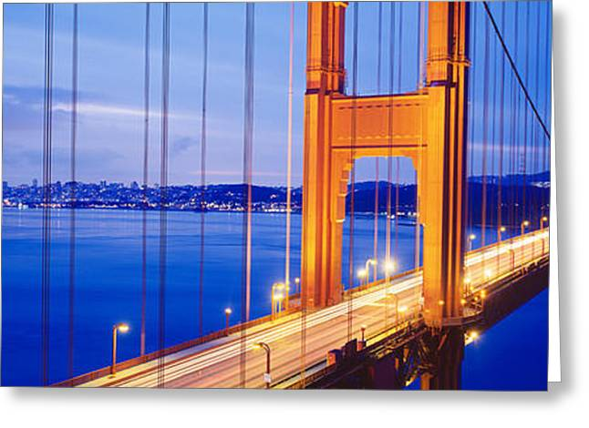 San Francisco Bay Greeting Cards - Golden Gate Bridge, San Francisco Greeting Card by Panoramic Images
