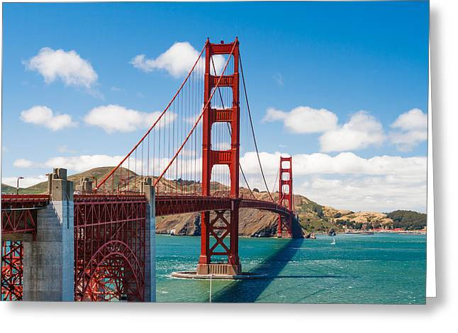 Landscape Bridge Greeting Cards - Golden Gate Bridge Greeting Card by Sarit Sotangkur