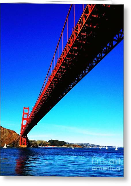 San Francisco Cali Greeting Cards - Golden Gate Bridge Greeting Card by Vannucci Fine Art