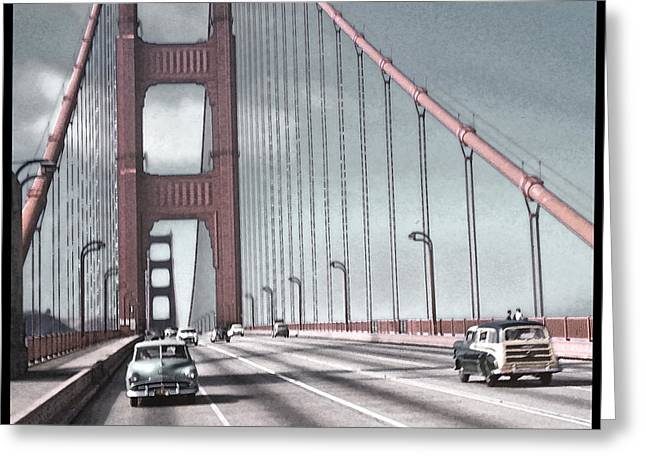Best Sellers -  - California Tourist Spots Greeting Cards - Golden Gate Crossing Greeting Card by Eric  Bjerke Sr
