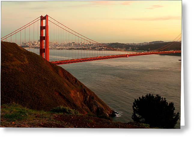 Pacific Pyrography Greeting Cards - Golden Gate Greeting Card by David Rasmussen