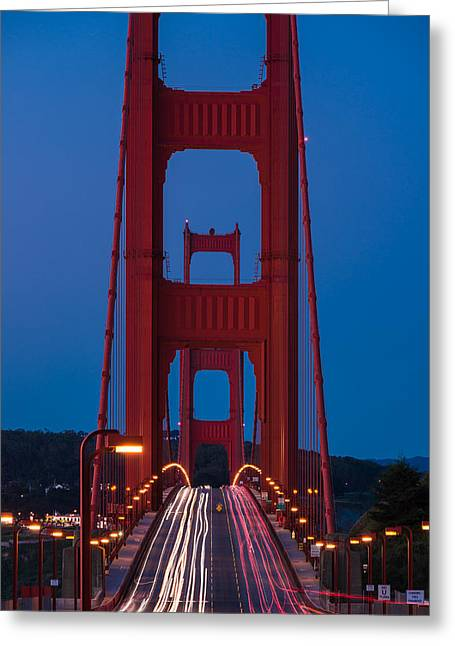 Golden Gate Greeting Cards - Golden Gate Dawn Greeting Card by Steve Gadomski