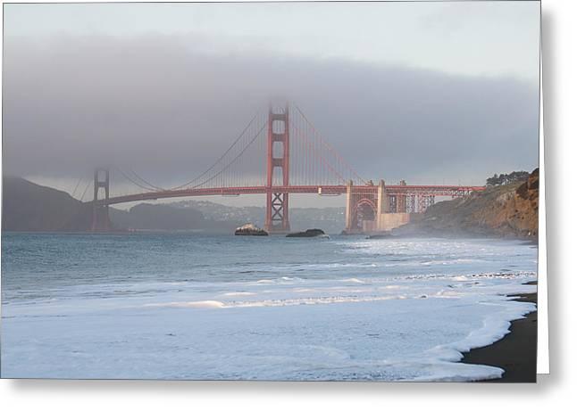 California Greeting Cards - Golden Gate Fog Greeting Card by Diana Weir