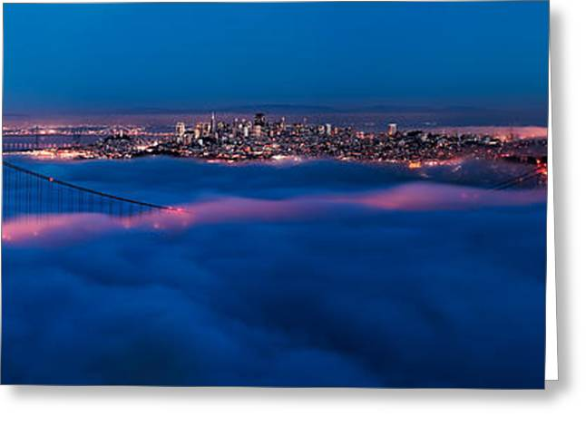 Panoramic Ocean Photographs Greeting Cards - Golden Gate Greeting Card by Francesco Emanuele Carucci