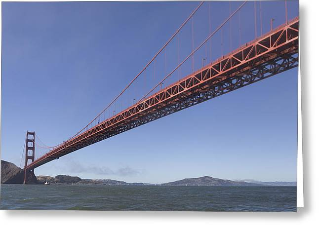 Sun Breaking Through Clouds Greeting Cards - Golden Gate from the bay Greeting Card by Scott Campbell