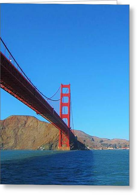Michelle Greeting Cards - Golden Gate High Greeting Card by Michelle Dallocchio