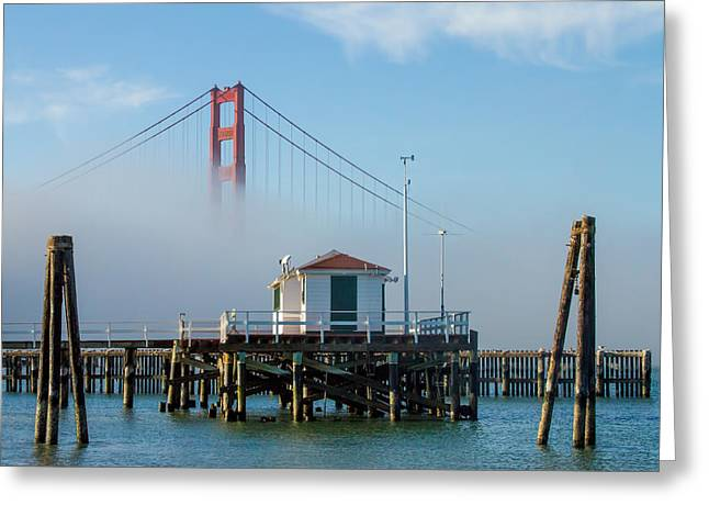 Bay Bridge Greeting Cards - Golden Gate in the Fog Greeting Card by Bill Gallagher