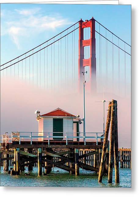San Francisco Bay Greeting Cards - Golden Gate in the Fog II Greeting Card by Bill Gallagher