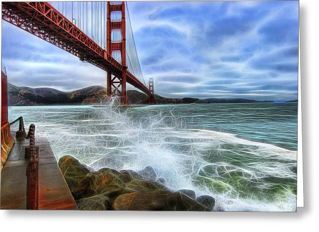 Sausalito Greeting Cards - Golden Gate  Greeting Card by Jay Hooker