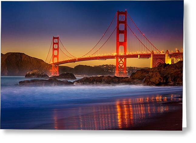 Golden Gate Greeting Card by Jeana Childress