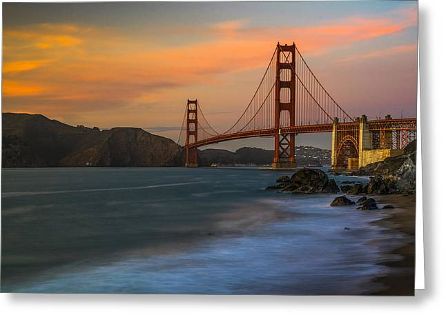 Sfo Greeting Cards - Golden Gate Greeting Card by Peter Irwindale