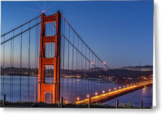 Phil Clark Photographs Greeting Cards - Golden Gate Greeting Card by Phil Clark