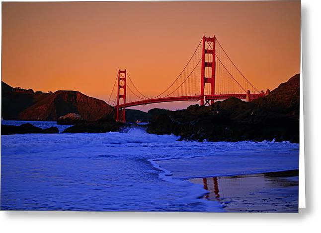 Downtown San Francisco Greeting Cards - Golden Gate- San Francisco Greeting Card by See My  Photos