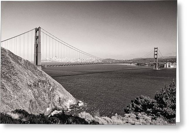 Highway Greeting Cards - Golden Gate Sepia Greeting Card by Scott Norris