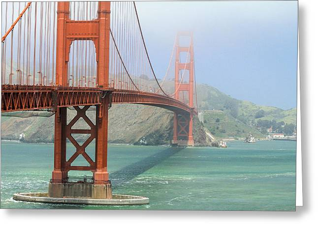 Alcatraz Greeting Cards - Golden Gate Greeting Card by Steven Bateson